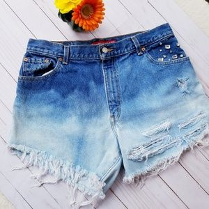 Levi's Classic Relaxed 550 Distressed Jeans Shorts